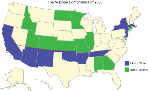 Missouri Compromise of 2008 (map)